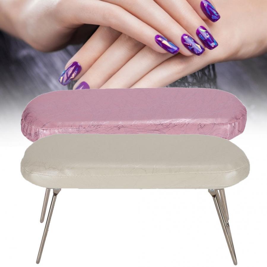 Cojín de cuero PU para manicura de uñas artísticas, cojín reposabrazos impermeable para manicura con soporte para muñeca, soporte para manos, herramienta de descanso para lámpara de uñas