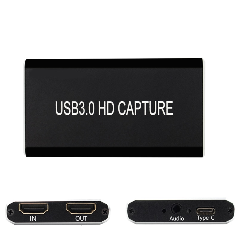 HDMI Video Capture Card USB 3.0  type c,HD 1080P 60fps Game Video Recorder for PS3 PS4  TV BOX Twitch OBS Youtube Live Streaming audio video capture card 4k hdmi to usb 3 0 capture card 1080p 60fps live streaming game recorder device for ps4
