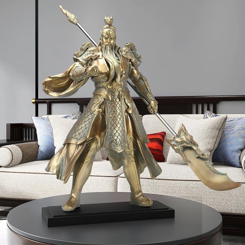 70 سنتيمتر Guan قونغ تمثال تمثال ديكور المنزل الحديث الشكل النحت مكتب التماس الثروة فنغ شوي الحرف اليدوية ديكور هدية