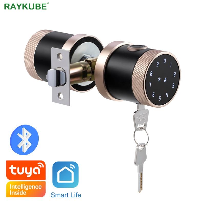 Promo Fingerprint Door Lock Tuya Bluetooth Wifi Digital Keyboard Smart Card Combination knob Lock For Home / Office / Hotel DIY Lock