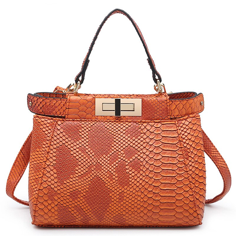 Fashion Shoulder Bag for Women Luxury Brand Designer Female Handbags 2021 Summer Python Pattern Tote Bag