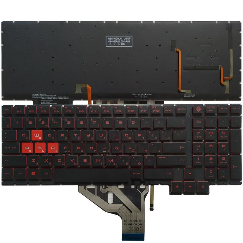 جديد الروسية كمبيوتر محمول لوحة مفاتيح إتش بي فأل 15-CE 15-CE010CA 15-CE020CA 15-CE030CA 15-CE051NR مع الخلفية 15.6