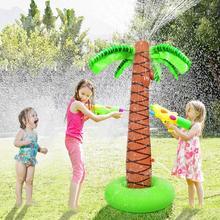Jouets gonflables de 155cm pour des enfants jouets gonflables tropicaux de palmier pour des jouets extérieurs de jeu deau de jet darrosage denfants