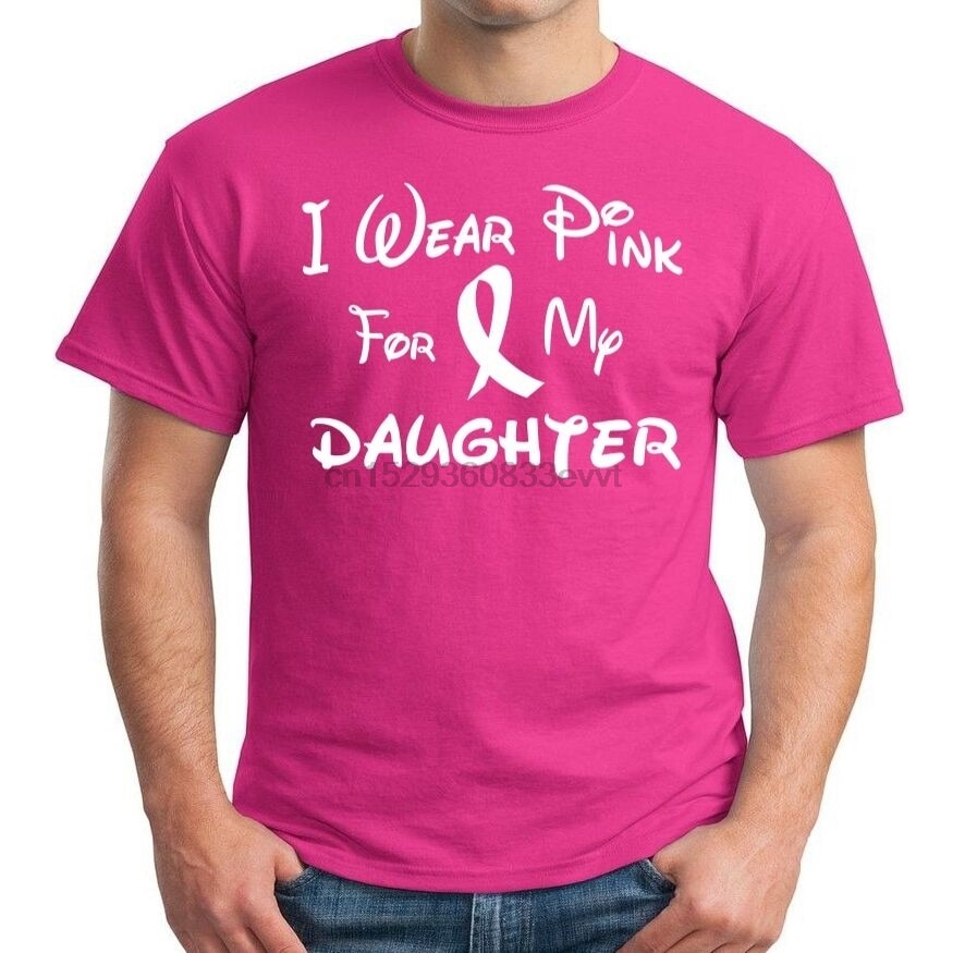 Camiseta Rosa I Wear para mi hija para la concientización del cáncer de mama caminata fuerte cura