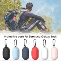 silicone earphone case for samsung galaxy budsbuds dust proof protective wireless bluetooth compatible earphone cover case