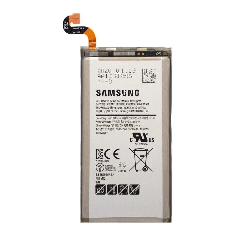20pcs/lot High Quality Battery EB-BG955ABA For Samsung galaxy S8 Plus S8+ G9550 SM-G9 SM-G955 Phone Bateria 3500mAh enlarge