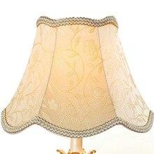 Style européen cour abat-jour tissu Table lampe abat-jour accessoires hôtel chambre chevet lampadaire coque couverture