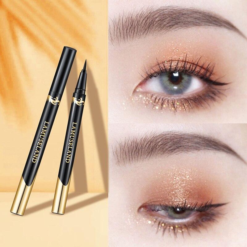 Liquid Eyeliner Quick-drying Eyeliner Pen Waterproof Not Blooming Long-lasting Eye Liner Pencil Cosmetics Make-Up Tool TSLM1 недорого