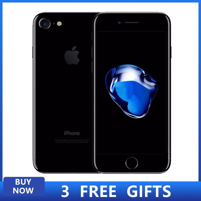 Desbloqueado Apple iPhone 7 4G LTE celular teléfonos 32/128GB iOS 12.0MP Cámara Quad-Core huella dactilar 12MP 1960mA Smartphone