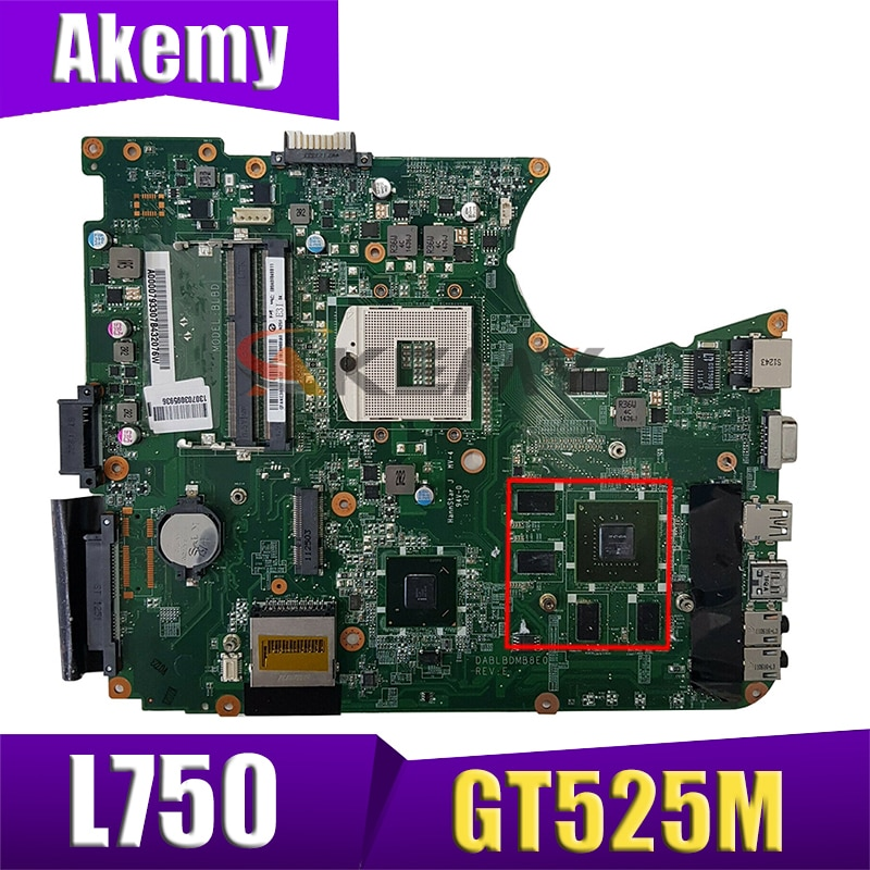 AKEMY A000081570 dpl bdmb8e0 اللوحة الأم للكمبيوتر المحمول توشيبا الأقمار الصناعية L750 HM65 DDR3 GT525M اللوحة الرئيسية اختبار كامل