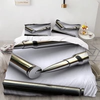 23 pieces military weapon bedding sets 3d print for bedroom duvet cover set home textile bed quilt cover arms bullet cover set