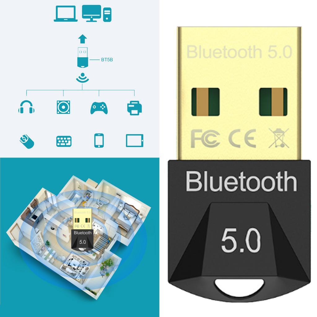 Adaptador Bluetooth 5,0 para PC USB Mini Dongle Bluetooth para PC transferencia inalámbrica para escritorio Bluetooth auriculares altavoces