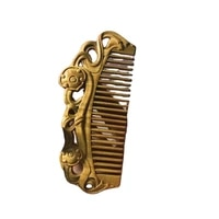 argentina green sandalwood fragrance double sided carved wooden comb anti static wood craft travel portable