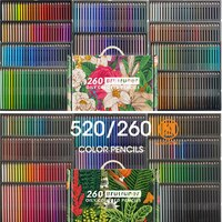 Brutfuner 520 Colors Professional Oil Colored Pencil Wooden Soft 260 Color Colour Pencil School Draw Sketch Art Supplies Andstal