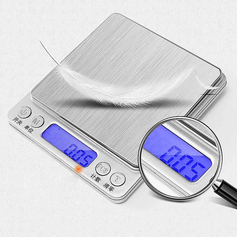 500/0.01g 1kg/2kg/3000g/0.1g LCD Portable Mini Electronic Digital Scales Pocket Case Postal Kitchen