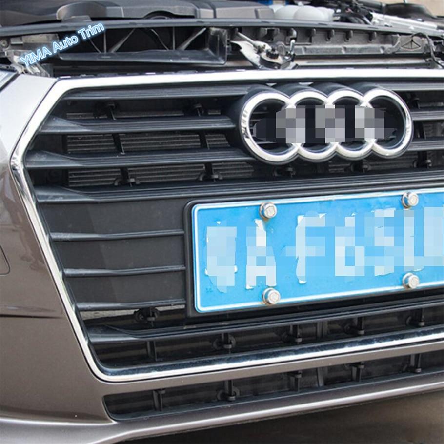 Lapetus Auto estilo rejilla frontal mosquitera inserto más protección cubierta ajuste para Audi A4 B9 2016 - 2019