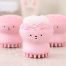 Silicone Octopus Facial Brush Soft Face Scrub Washing Brush Face Deep Cleansing Brush Pore Cleaner B