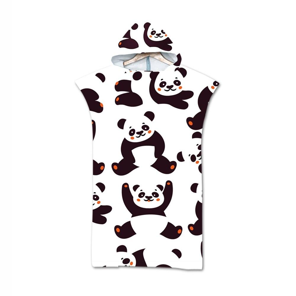 Frete grátis novidade presente de aniversário do feriado bonito panda urso corações cactus com capuz nadar surf banho praia poncho toalha mudando robe