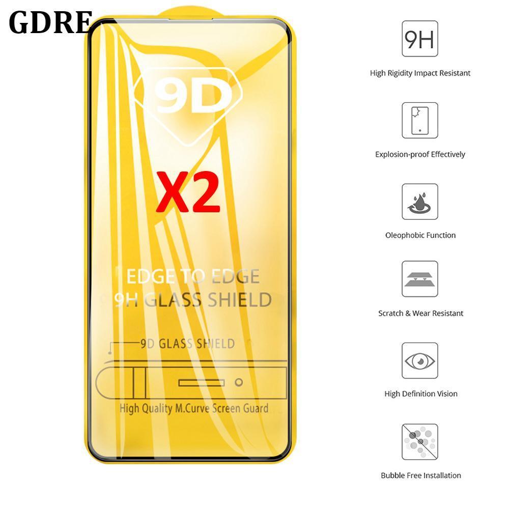 2PCS Vidro Temperado no Para Samsung Galaxy A71 A51 A50S A70 A40 A30 A20 A10S M50 M30S 9D de Proteção Protetor de Tela Curvada
