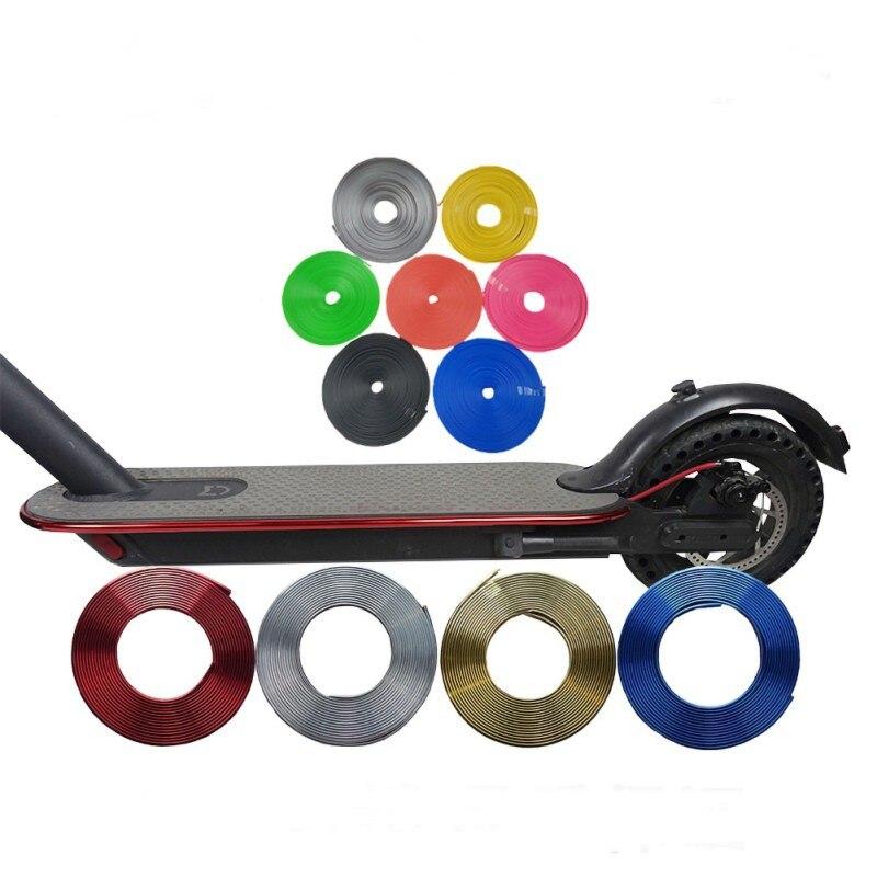 Бампер Защитный скутер полоски для корпуса для Xiaomi Mijia M365 Электрический скейтборд автомобиль скутер декоративные полоски запчасти