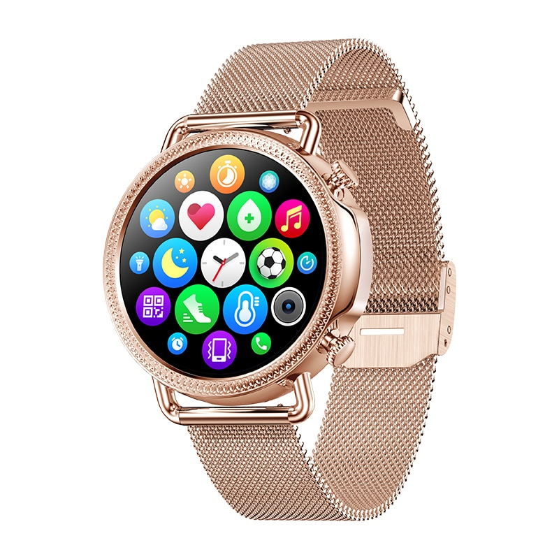 2021 Women Smart Watch 1.28 inch HD Screen IP67 Waterproof Lady's Watches Body Temperature Heart Rat