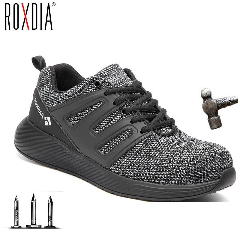 Zapatos de seguridad anticolisión para hombre Wome, envío directo, zapatillas de trabajo industriales con puntera de acero, informal ROXDIA de talla grande 37-48 RXM285