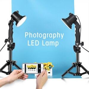 12 Вт Светодиодный светильник для фотосъемки лампа с ручкой Настольный светильник коробка для съемки с 2 шт. 37 см светильник подставка для шт...