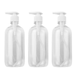3pcs 500ml Pump Bottle Dispenser Empty Container for Toner Bath Wash Shampoo Lotion Hand Sanitizer Cosmetic