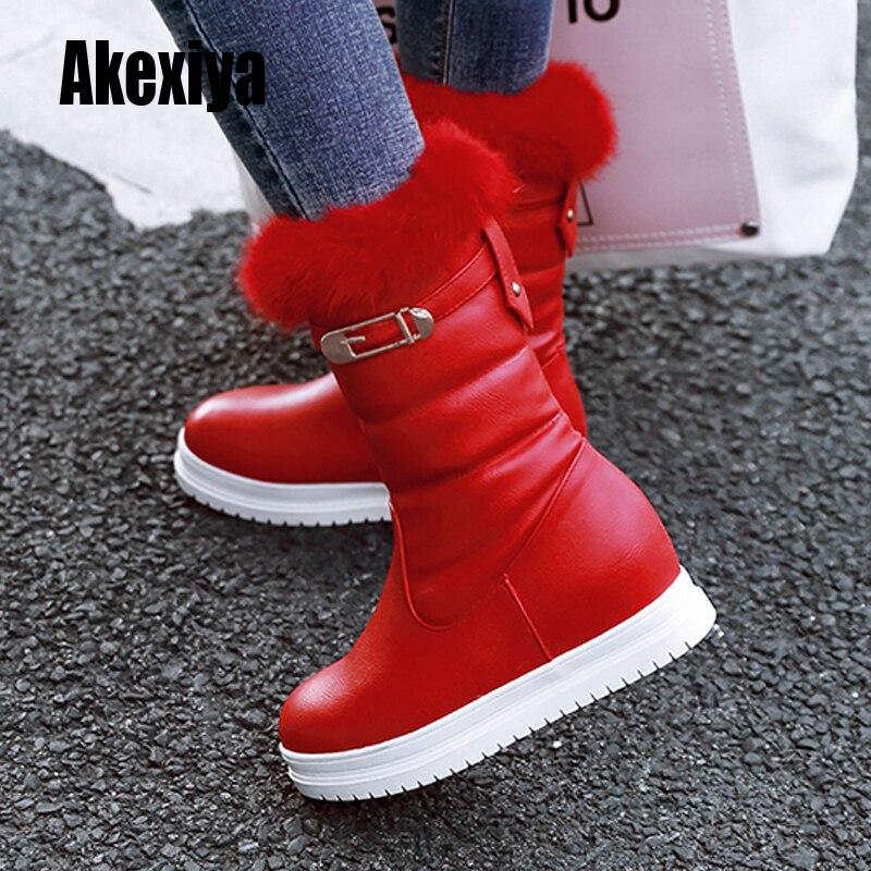 أحذية الثلوج النسائية لعام 2021 ، أحذية الشتاء الدافئة من الفرو الطبيعي من الجلد ، أحذية نسائية قصيرة ، أحذية باللون الأسود والأبيض والأحمر k524
