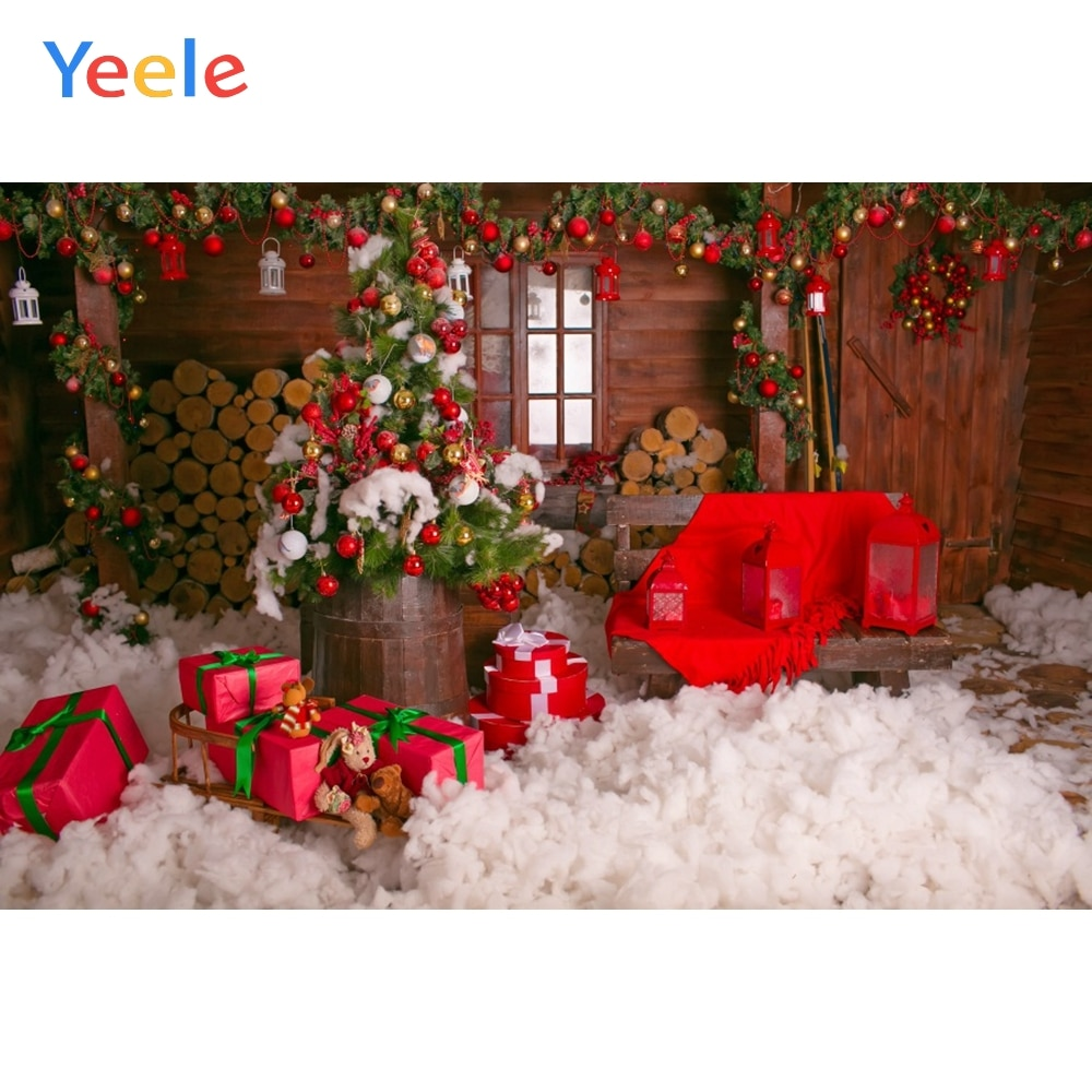Рождественские фоны Yeele для фотосъемки деревянная дверь детский душ Фото фоны декор для фотобудки фоны реквизит для фотосъемки