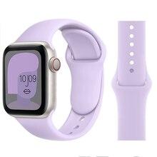 Cinturino in Silicone per cinturino Apple Watch 6 44mm 42mm 40mm 38mm cinturino in gomma intelligente cinturino iWatch per serie 6 SE 5 4 3 2 se