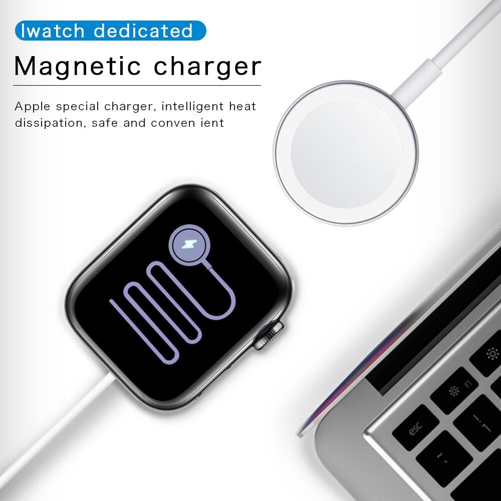 Stock de cargador pequeño Compatible con Apple Watch 1 2 3 4 5 Smart Watch carga USB cargador portátil Accesorios inteligentes