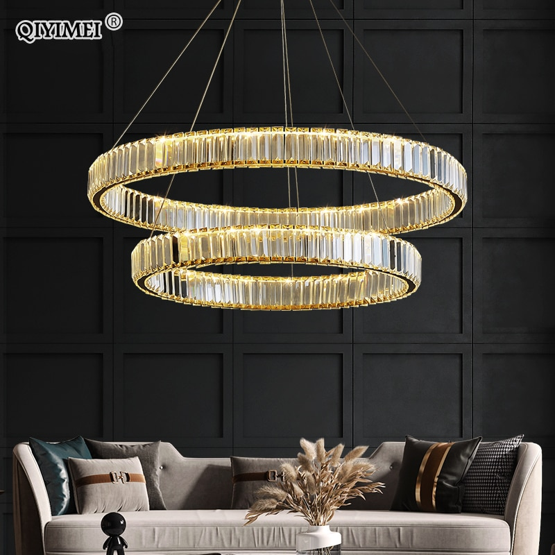 Modern LED Pendant Lights for Bedroom Dining Hall Living Study Room Lighting Fixtures Home Lustres Crystal Dimmable Indoor Lamps modern stairs luxury k9 crystal pendant lights hotel hall large hanging k9 crystal lights villa living room loft pendant lamps