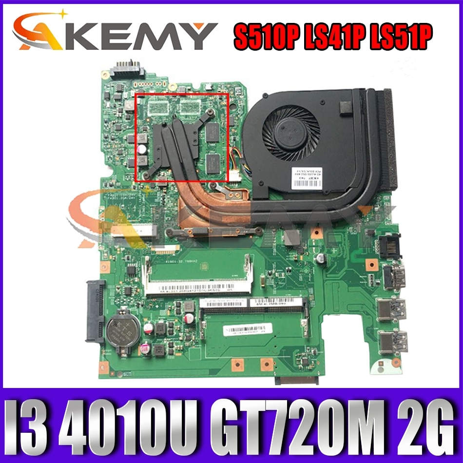 Akemy 12293-1 48.4L106.011 اللوحة لينوفو S510P LS41P LS51P دفتر اللوحة وحدة المعالجة المركزية I3 4010U GT720M 2G DDR3 100% اختبار
