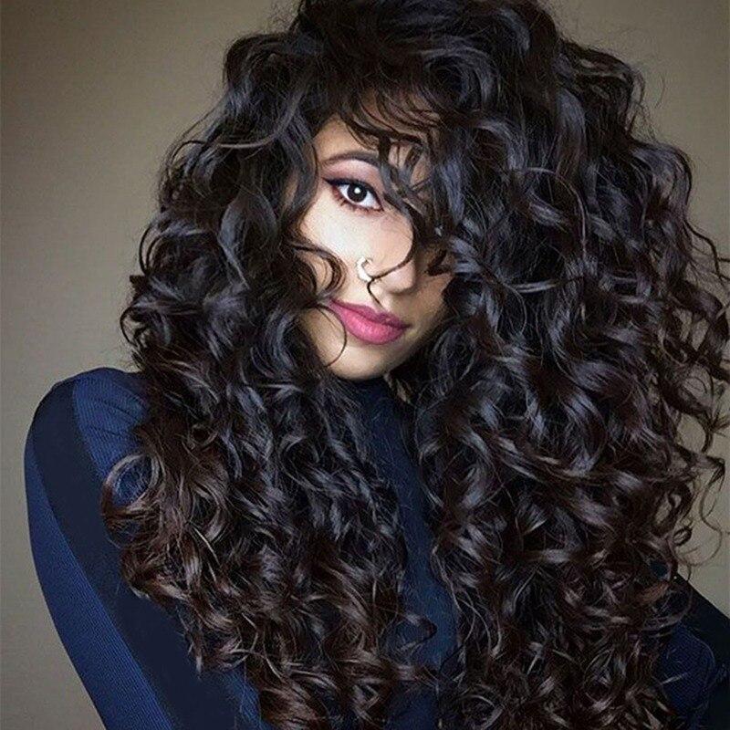 Tiefe Welle Perücken Spitze Front Menschliches Haar Perücken für Schwarze Frauen Lockige menschenhaar Perücken