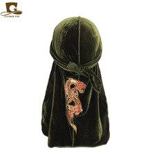 Dragon chinois estampage à chaud flanelle longue queue Pirates chapeau sangle Baotou casquette casquette de chimiothérapie vente directe dusine