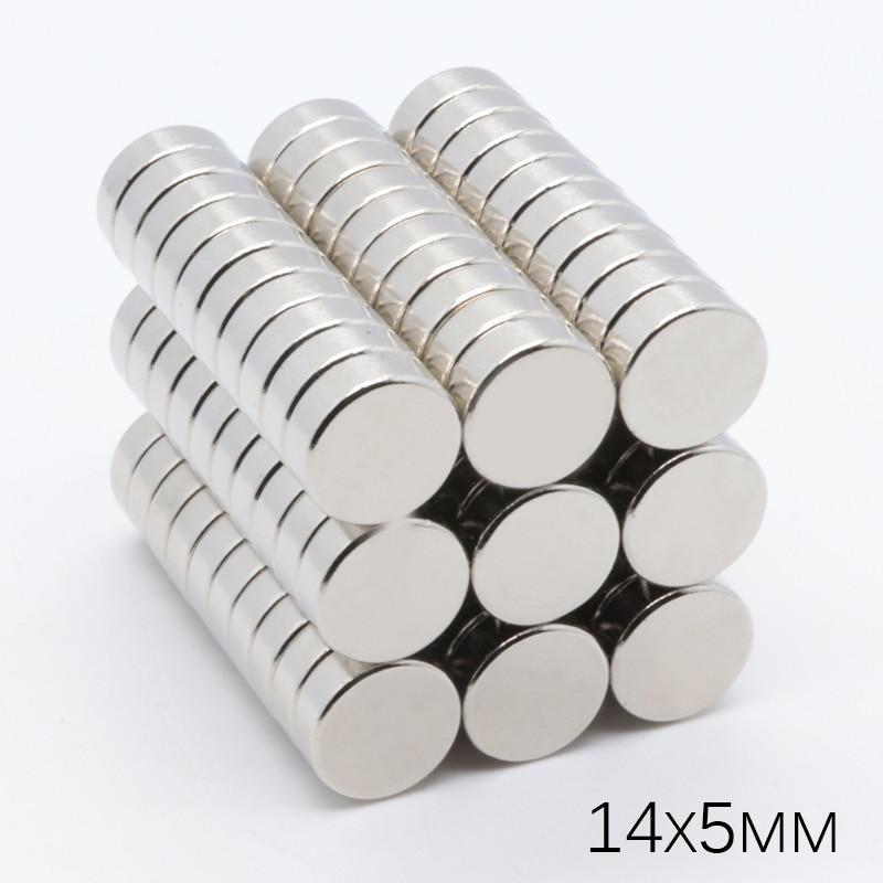 50 шт. 14x5 мм круглый NdFeB неодимовые 14*5 мм, суперсильные магниты, Магниты Диаметр 14x5 мм N35 супер мощные сильные Редкие земные магниты NdFeB (неодим-...