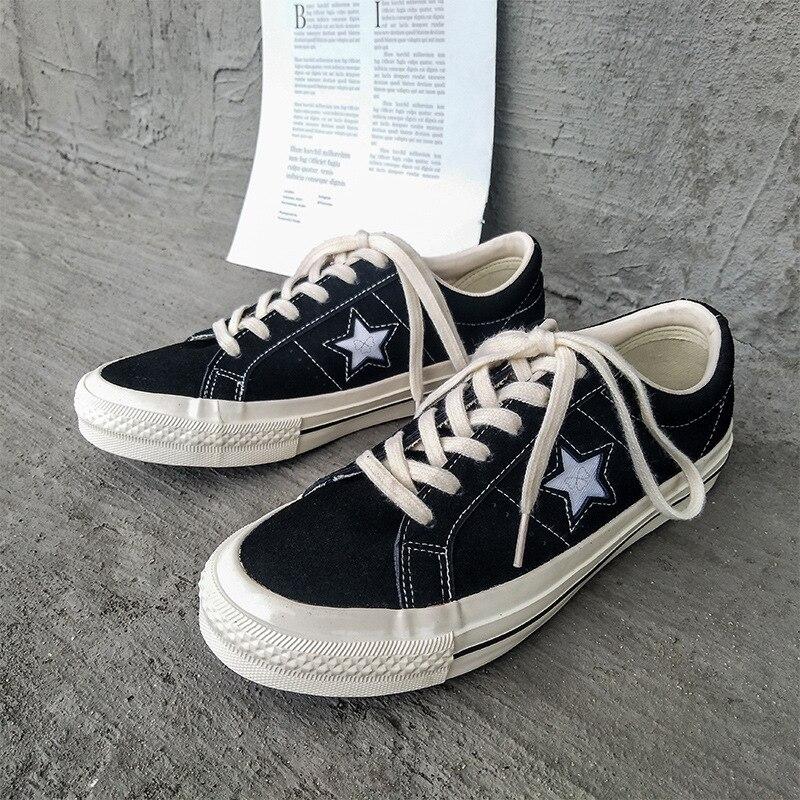 Zapatos planos de estrellas blancas para mujer, zapatilla suave de moda informal,...