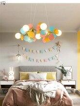 Decoración artística de diseñador nórdico, anillo de flores, rama de árbol, luces colgantes LED, Macaroon colorido, moderno minimalista, sala de estar de lujo