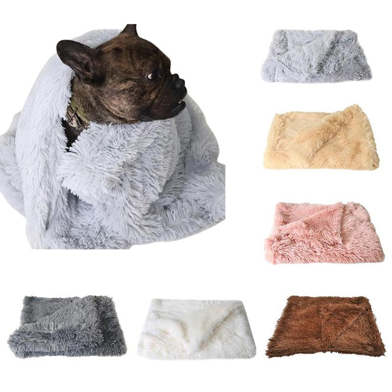 Fluffy Soft Flannel Pet Dog Blanket Mat Warm Mat Plush Mattress Cat Dog Cushion Rug Sleeping Bed for Small Medium Large Dogs