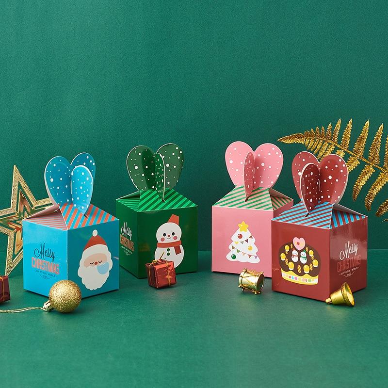 Víspera de Navidad apple caja de regalo печенья de Santa Claus caja de dulces подарочная коробка traktatie kinderen коробка картон 50 Uds