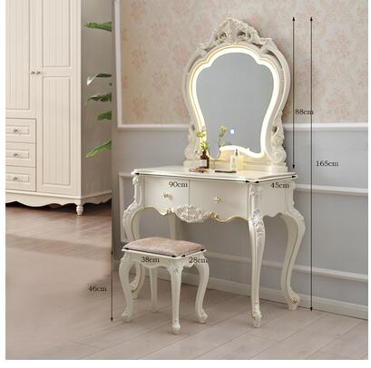 Туалетный столик в европейском стиле, современный минималистичный столик с лампой для спальни, принцессы