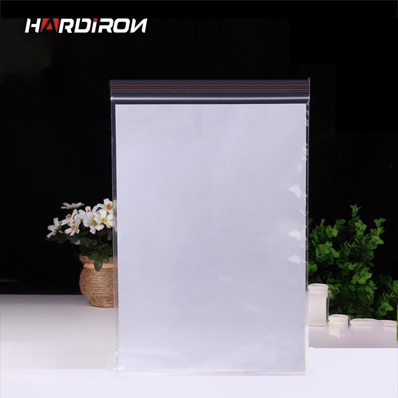 0,05mm PE claro auto sellado Zip Lock bolsas plástico paquete bolsas blanco transparente cierre Zip embalaje bolsas