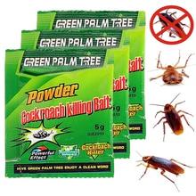 10 Packs Green Leaf Powder Cockroach Killer Bait Repeller Killing Trap Pest Control For Kitchen Effective Cockroach Killing
