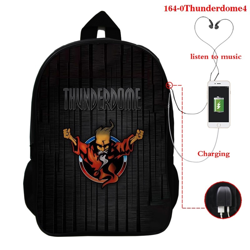 Thunderdome Multifunction Backpack USB Charging School Bags For Teenagers Unisex Laptop/Travel Bags Nylon 16 Inch Mochila