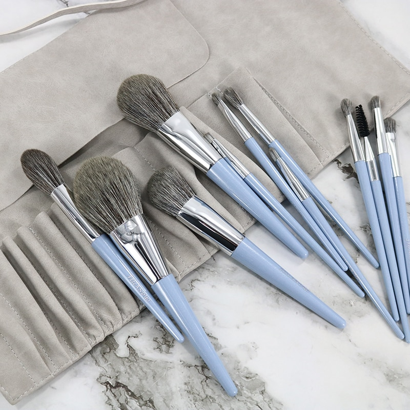 12pcs Makeup Brushes Set Fan Loose Powder Foundation Contour Blush Eyebrow Brush Pincel Maquiagem With High Quality Brush