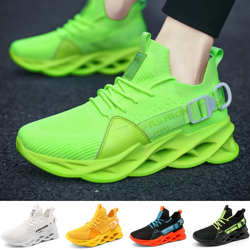 Фото - Мужские кроссовки для бега, модные мужские кроссовки, дышащие спортивные уличные кроссовки, повседневные кроссовки, размер 39-48 skechers кроссовки мужские skechers dynamight 2 0 rayhill размер 43 5
