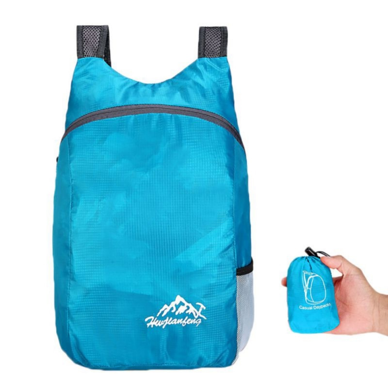 Unisex Foldable Outdoor Camping Hiking Travel Daypack Leisure Sport Bags 20L Lightweight Outdoor Backpack Waterproof Portable