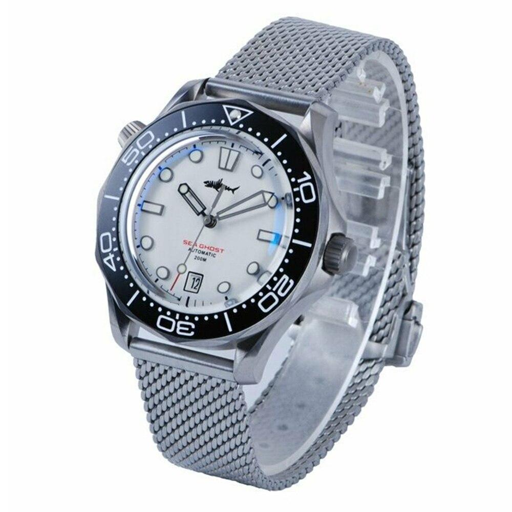 ساعات يد ميكانيكية من HEIMDALLR للغوص ساعات يد رجالية من التيتانيوم مقاس 200 متر NH35A ساعة يد أشباح بحرية للرجال ساعة أوتوماتيكية مضيئة C3