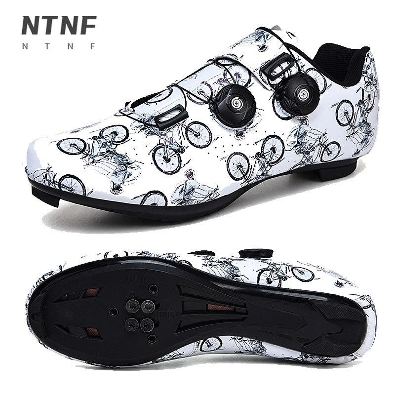Cycling Shoes Men SPD Route Road Bike Shoes Cleat Racing Women Mountain Sneakers Mtb Flat Bicycle Sn